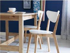 IKEA - NORDMYRA Chair, white, birch