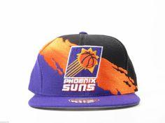 Mitchell & Ness Snapback Tri-Color Team Color Logo Paintbrush Hat Cap (NBA Phoenix Suns) - http://bignbastore.com/nba-hats/mitchell-ness-snapback-tri-color-team-color-logo-paintbrush-hat-cap-nba-phoenix-suns