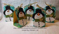 Stamps Well With Others: Snowman Punch Art Pattern