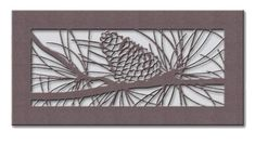 A beautiful example of a decorative air vent cover, Pinecone. By Vent and Cover.