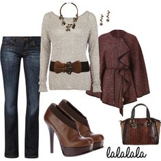 """""""Simply Shades of Cranberry & Chocolate"""" by ggulan on Polyvore"""