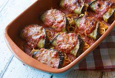 Italian Food Forever » Sicilian Spaghetti Stuffed Eggplant Rollups {Involtini di Melanzane}
