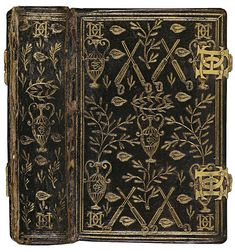 Book of Hours of Catherine de Medici ~ Black morocco leather and plated enamel locks, (Binder unknown, 1565)