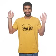 McPig by No Nasties - 100% organic fair trade cotton t-shirts, Made in India. #fashiontakesaction would pair with jeans and sneaks