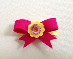 Girls/Baby Felt Hair Clip Felt Bow Snap Hair Clip by JandGhandmade, $3.95