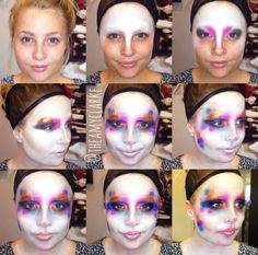 #clownmakeup #tutorial created by Amy Clarke #theamyclarke #halloweenmakeup @theamyclarke #clown #girlclown #costumeideas