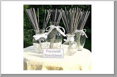 Welcome to the Buy Wedding Sparklers photo gallery for unique wedding centerpieces. Here you will find photos of wedding sparklers and other items being used. Wedding Centerpieces, Wedding Favors, Wedding Events, Wedding Reception, Reception Ideas, Weddings, Wedding Invitations, Wedding Gifts, Camp Wedding