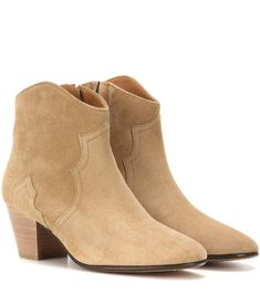Isabel Marant étoile Dicker Suede Ankle Boots For Spring-Summer 2017 Suede Booties, Ankle Booties, Bootie Boots, Beige Ankle Boots, Knee High Boots, Isabel Marant Dicker Boots, Fashion Models, Kids Fashion, Women's Fashion