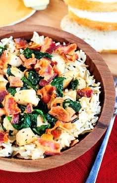 Low FODMAP Recipe and Gluten Free Recipe - Chicken and smoked bacon rice