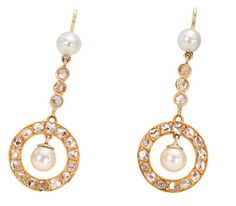 Womens Diamond & Pearl Drop Earrings Samira 13 Nkquog5