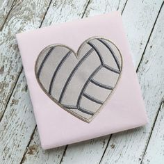 Volleyball Loveheart Applique