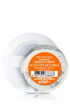 Mango Dragon Fruit - Scentportable Fragrance Refill - Bath & Body Works - Fragrance for the fast lane! Combine with your fave scentportable holder to refresh and renew your car with continuous fragrance for 4-6 weeks!