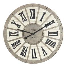 Maison du monde Ambiance scandinave ou charme  TRès grande Horloge en métal D 92 cm PARIS 1807 109,90 €