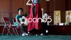 Peking Opera actress are rehearsal in training hall. - Stock Footage | by YPPictures