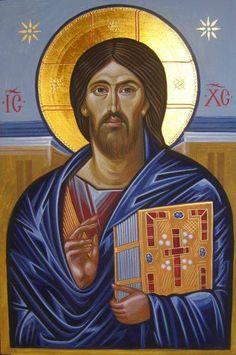 Sinai Christ Icon (painted at St Catherine's Monastery Dec Religious Icons, Religious Art, Satan, Paint Icon, Finding Jesus, Religion, Sacred Art, Pictures To Draw, Byzantine