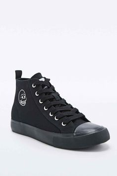 Cheap Monday Base Canvas High-Top Trainers in Black