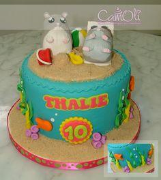 Gâteau hamster à la plage /// Hamster on beach cake