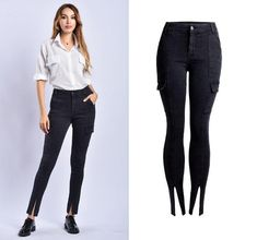 Good Hole Ripped Jeans Women Pants Cool Denim Pencil Jeans For Girl Pants Andrea Mendes Arroio Deiama Miami Beach Brazilian Brunette Jeans Women's Clothing