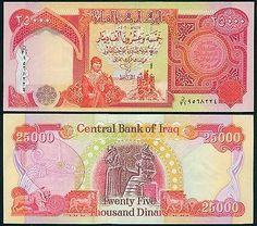 IRAQ: IRAQI 25000 DINARS (4 PCS): 100,000 NEW IRAQI DINARS UNC - http://mostbidded.com/ads/iraq-iraqi-25000-dinars-4-pcs-100000-new-iraqi-dinars-unc