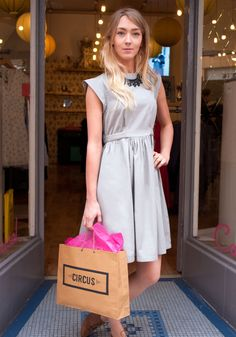 The versatile grey Sylvia dress from Circus, inspired by the Carousel, Dublin, 1940s, Vintage Style, Shirt Dress, Summer Dresses, Inspired, Grey, Shirts
