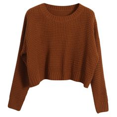 Chicnova Fashion Loose Fit Long Sleeves Knitwear ($29) ❤ liked on Polyvore featuring tops, sweaters, shirts, long sleeves, longsleeve shirt, long sleeve sweaters, loose fit shirt, brown tops and loose fitting sweaters