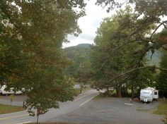 It was strange that a main street seperated the campground, but no problem.  At Bald Mountain.