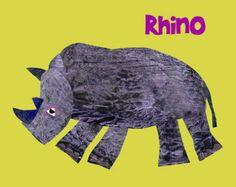 Nursery Art Print, baby nursery art, kids room decor, art for children, kids room art,Safari nursery art, rhino, 8x10 Nursery Print