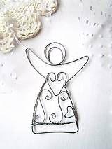 Dekorácie - strieborný anjel - 6158447_