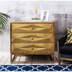 Umberto Brass Chest of Drawers - Bed & Bath - Shop By Category - New For Summer