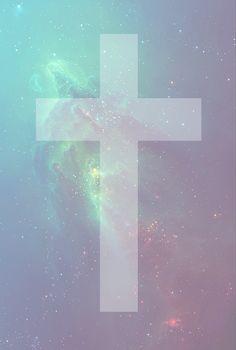 Galaxy cross wallpaper