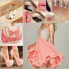 Prom dress. Pastel pink