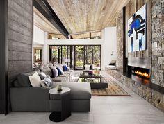 Interior Greatroom Design & Build sagemodern Martis Camp - Dunsmuir