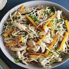 Vietnamese-style pumpkin & poached chicken salad