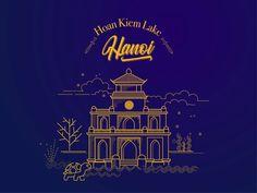 Hoan Kiem Lake- Hanoi designed by Thuydung Dang. Connect with them on Dribbble; Entertainment Logo, Saint Charles, San Luis Obispo, Salt Lake City, Show And Tell, Hanoi, Vietnam, Marina Del Rey