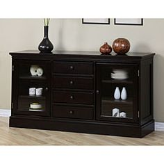 Furniture Of America Clayton Cappuccino Finish Dining Buffet By