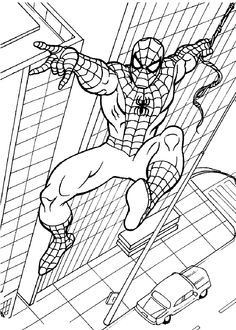 spiderman coloring pages printable from Spiderman Coloring Pages Printable. The Spiderman is a well known super hero who is good at climbing buildings. The red-costumed superhero figure was created by comic artist Stan Lee ab. Superhero Coloring Pages, Spiderman Coloring, Cartoon Coloring Pages, Coloring Pages To Print, Free Printable Coloring Pages, Coloring Book Pages, Coloring Pages For Kids, Coloring Sheets, Kids Coloring