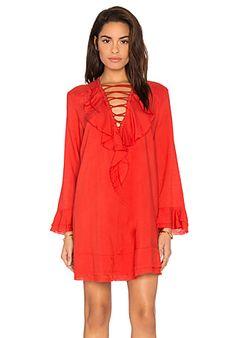IRO Florine Dress en Rouge Coquelicot | REVOLVE