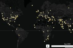 Protests WORLDWIDE: Impressive interactive global (video) map of every protest since 1979 - Second to DeeCee, Witchita, Kansas has more protests than any other US city and the northern hemisphere than the southern hemisphere.