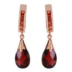 Ladies 14K Rose Gold Changeling Garnet Earrings