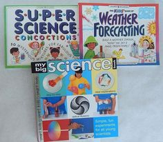 Lot 3 Kids Books Experiments STEM Super Science Weather Forecasting Home School
