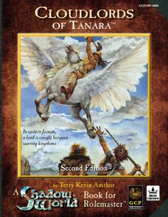Shadow World: The Cloudlords of Tanara setting material for use with Rolemaster from Iron Crown Enterprises (ICE).