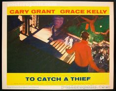 August 5 - Opened on this date in 1955: To Catch A Thief. #hitchcock #carygrant #gracekelly