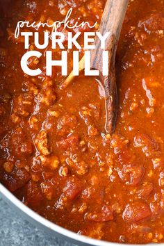 VIDEO: Pumpkin Turkey Chili with Roasted Poblano Peppers