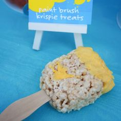 Rice Krispies paint brushes