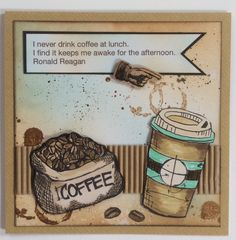 Tim Holtz coffee stamps.