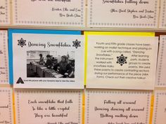 4th and 5th Dancing Snowflakes with Haiku poems. From Game Plan grade 3.