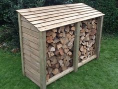 A  good size log store that can hold up to 1.3 cubic meter of logs, constructed from pressure treated tanalised wood to ensure a long service life. The base is slatted and there is a gap at the top of the back wall to encourage good air circulation around your logs. Measurements (approx) W1800mm x H1290mm x D690mm