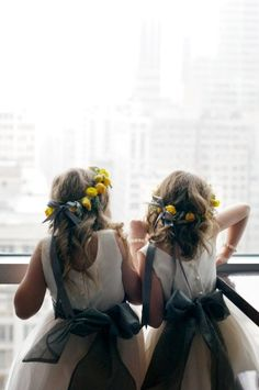 Halos for flower girls are a fun alternative to tossing petals