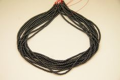 4strands  natural hematite plain ball 3mm by 3yes on Etsy