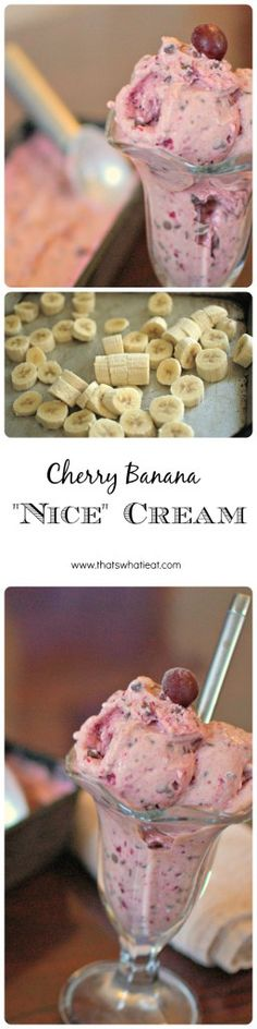 Cherry Banana Nice Cream - Earn prizes for building healthy habits!